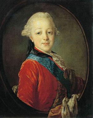 Портрет великого князя Павла Петровича в детстве