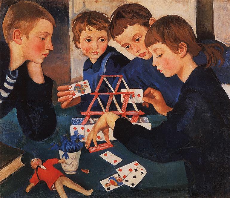 Серебрякова Карточный домик 1919