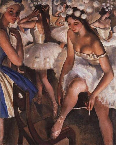 Балетная уборная. Снежинки (1923)