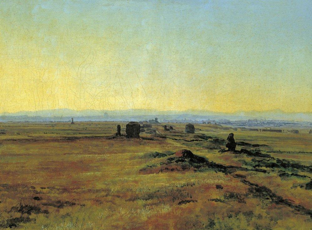 Аппиева дорога при закате солнца (1845)