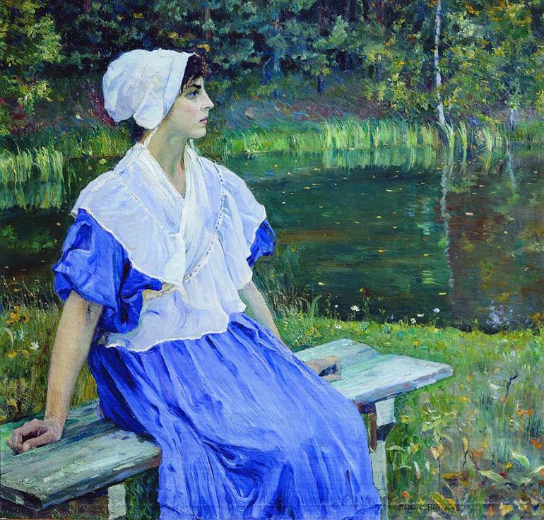 «Девушка у пруда» (1923)