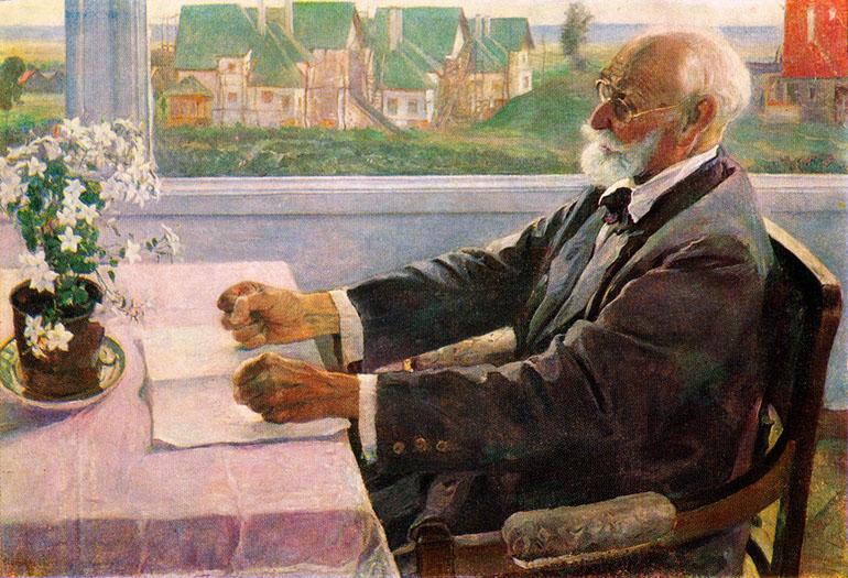 Портрет академика И. П. Павлова (1935)