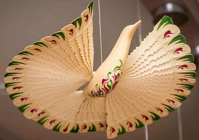 птиц из щепы или дранок