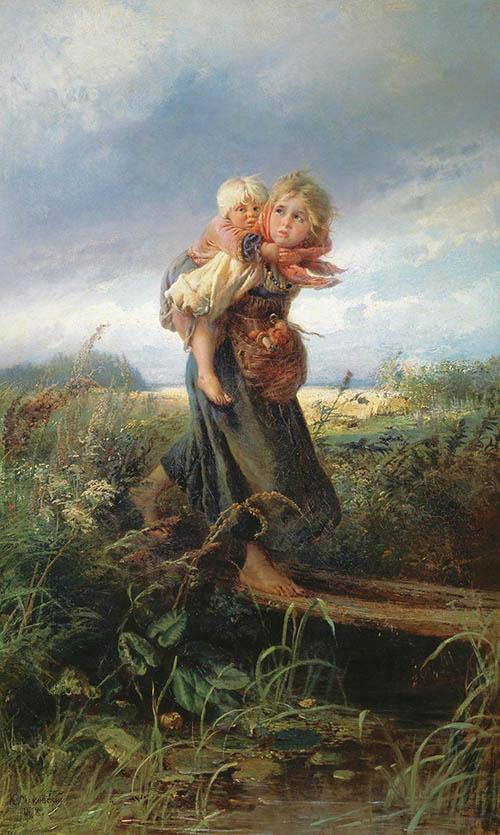 К. Е. Маковский «Дети, бегущие от грозы»